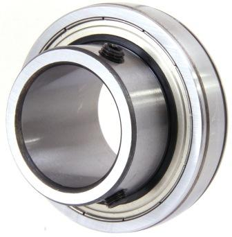 Bearing Inserts Spherical Outer 1000G, UC, UCX, T1000, Extended Inner both sides, Set Screw Lock