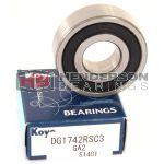 DG1742RSC3 Ball Bearing Premium Brand Koyo 17x42x13mm