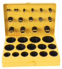 O Ring Kit Metric section and Internal diameter Nitrile NBR Shore 70 totaling 404 pieces