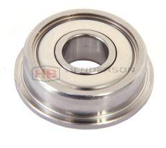 F61801ZZ, F6801ZZ Flanged ball bearing 12x21x5mm
