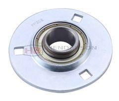 SAPF201, SLFE12EC 12mm Bore Pressed Steel Round Bearing Unit - Collar Type