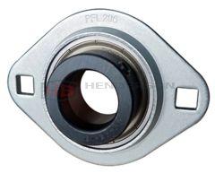 SAPFL201, SLFL12EC 12mm Bore Pressed Steel Oval Bearing Unit - Collar Type