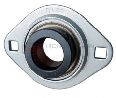SAPFL203, SLFL17EC 17mm Bore Pressed Steel Oval Bearing Unit - Collar Type