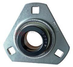 SAPFT203, SLFT17EC 17mm Bore Pressed Steel Triangular Bearing Unit - Collar Type