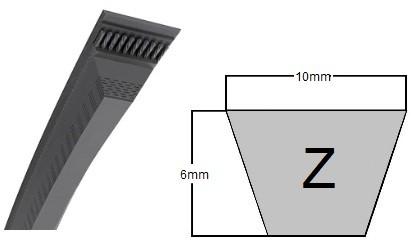 """Z38.5 Quality Branded V Belt 10mmx6mm 38.5/"""" Inside 40/"""" Outside Length"""